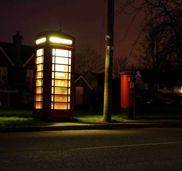 she wrote my name on a red telephone box, when I got there she'd already rubbed it off